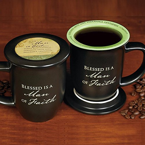 Man of Faith Mug & Coaster Set - Gifts for godfather