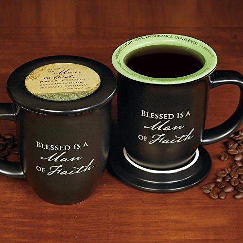 Man of Faith Mug & Coaster Set - Gifts for godfather