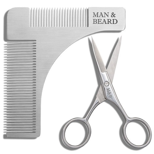 Beard Shaping Tool and Scissors Kit | Fathers Day gifts for dad who has everything