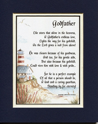 A Gift For A Godfather Poem - gifts for godfather