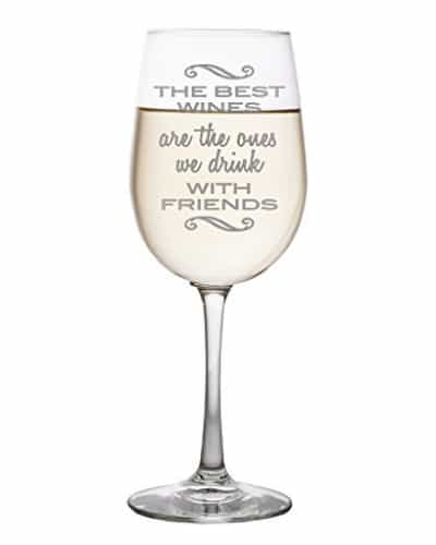Best Wine Best Friend Glass | Best Friend Day sentimental gifts for best friend