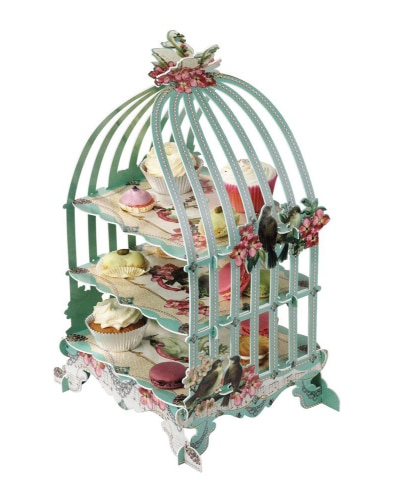 Birdcage Cakestand | Mint Green Kitchen Decor Ideas and Accessories