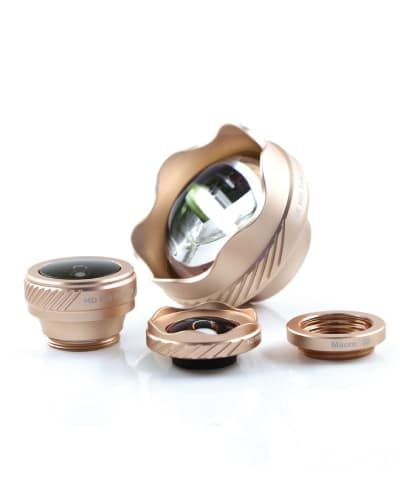 Rose Gold Phone Camera Lens Kit. Phone gadgets. Tech Gifts for Teens.