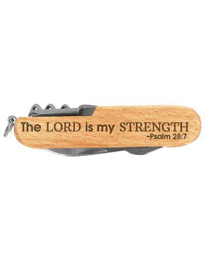 The Lord My Strength Pocket Knife - Godfather Gifts