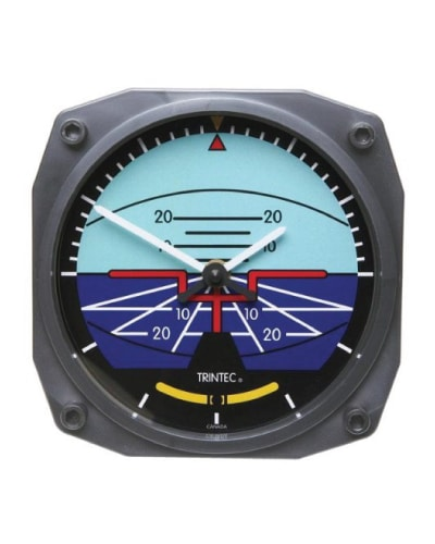Attitude Indicator Clock. Gifts for Pilots