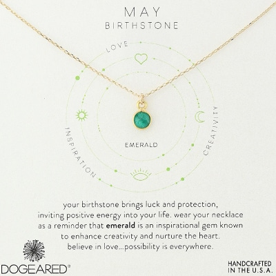 Dogeared May Birthstone