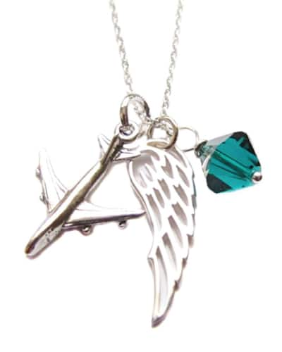 Airplane and Wing Necklace - Gifts For Female Pilots