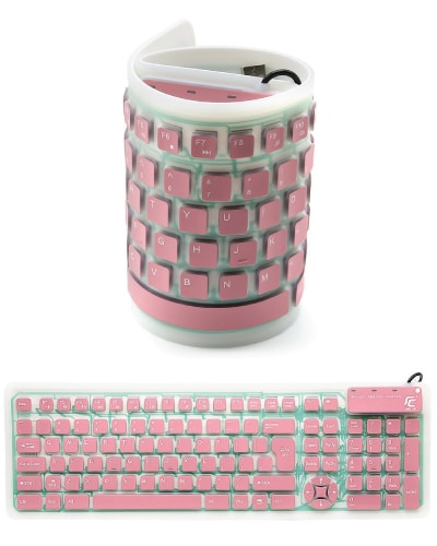 Portable Silicone Keyboard (Electronics Gadgets Tech Gifts for Teens)