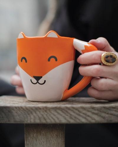 funny fox mug