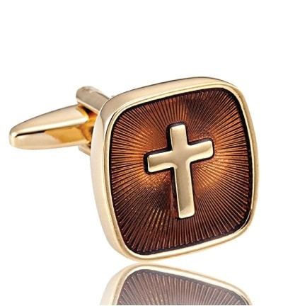 Golden Holy Cross Cufflinks - Godfather Gifts