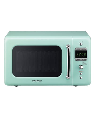 Daewoo Retro Microwave Oven | Mint Green Kitchen Decor Ideas and Accessories