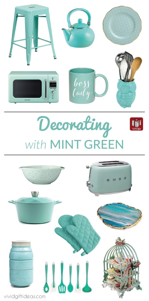 Mint Green Kitchen Decor Ideas | Vintage Home Decorating Tips