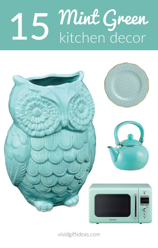Mint Green Kitchen and Home Decor