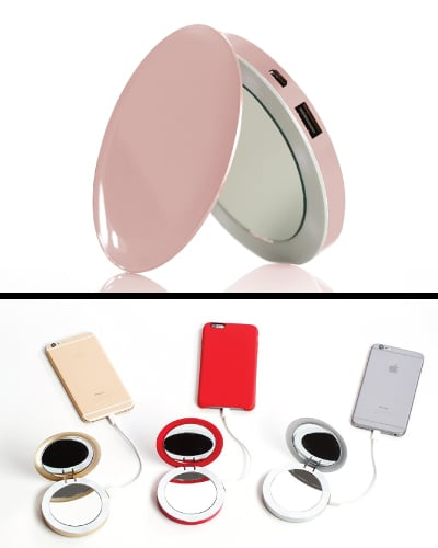 Compact Mirror USB Battery Pack - Electronics Gadgets Tech Gifts for Teens