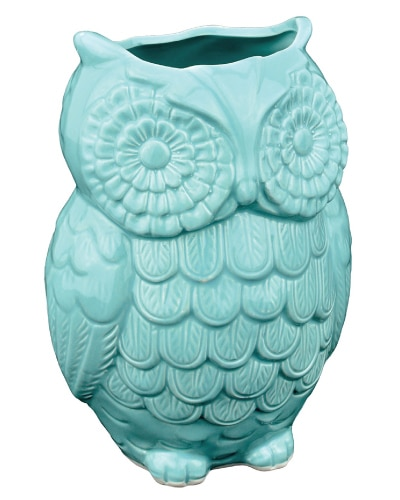 Ceramic Owl Utensil Holder | Mint Green Kitchen Decor Ideas and Accessories