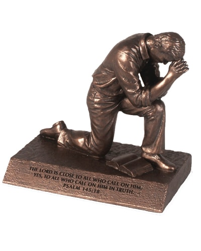 Praying Man Sculpture - Godfather Gift Ideas