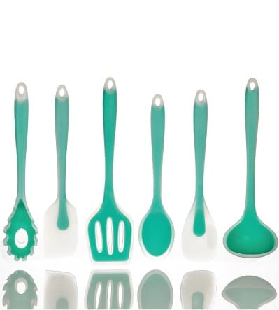 5 Piece Silicone Spatula Set | Mint Green Kitchen Decor Ideas and Accessories