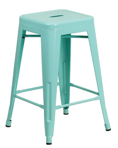 High Backless Counter Stool | Mint Green Kitchen Decor Ideas and Accessories