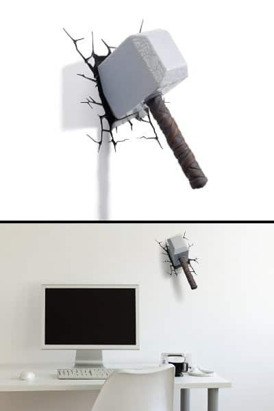 marvel thor hammer 3d light