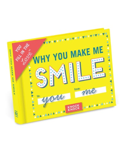 Knock Knock Why You Make Me Smile Fill In The Love Journal. (Anniversary Gifts for Boyfriend)