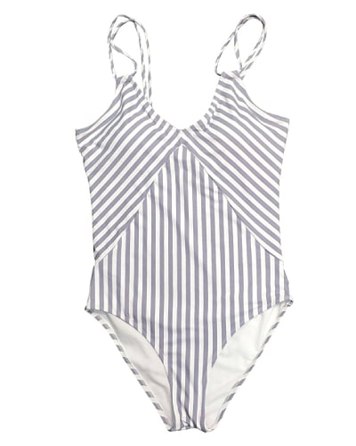Gray Stripes Swimsuit - Swimsuits 2017 Trends