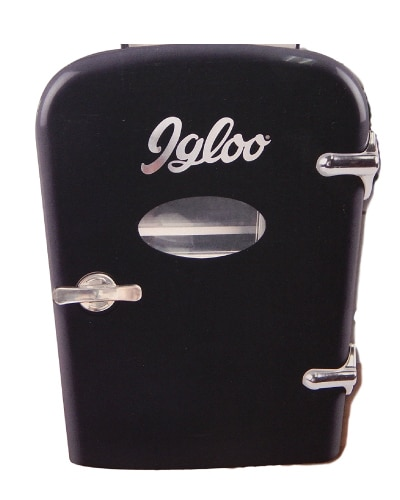 Igloo Mini Refrigerator. Men cave decor. (Anniversary Gifts for Boyfriend)