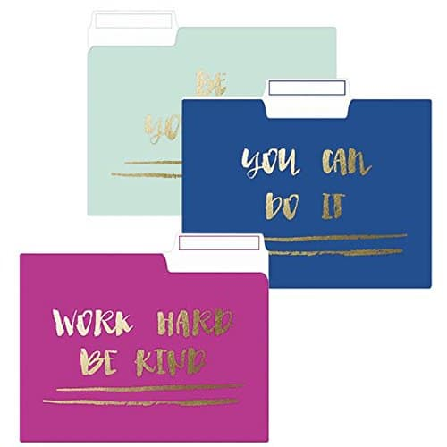 Be Yourself File Folder Set- Off to college gift ideas for girls