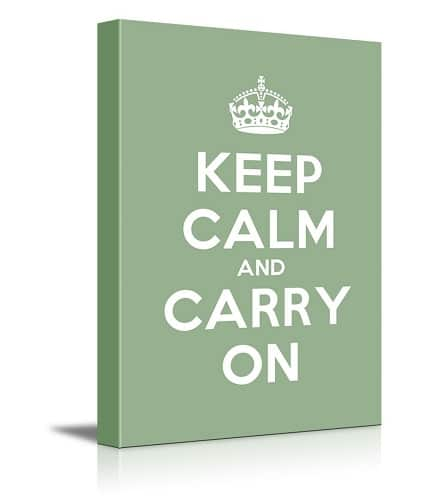 Keep Calm and Carry On Wall Art. Dorm room ideas.