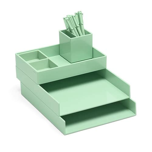 Desk Organizer to keep school supplies. Dorm room ideas.