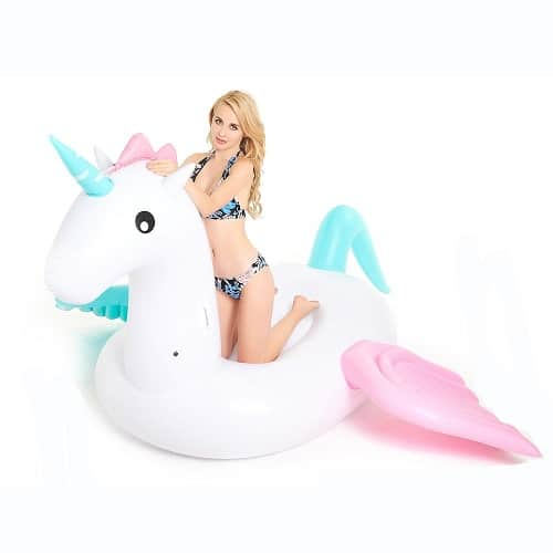 Inflatable Unicorn Pool Float. Unicorn gifts. Gifts for unicorn lovers.