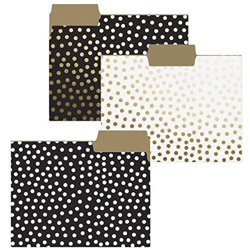 Gold Dots File Folder Set. Pretty school supplies. Back to school gifts for teachers.