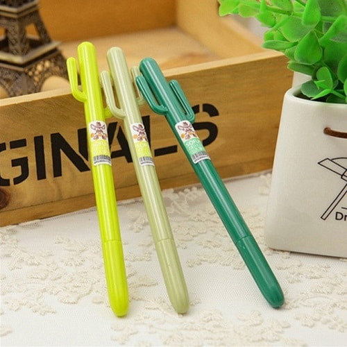 Cactus Pen. School supplies for girls. Off to college gift ideas.
