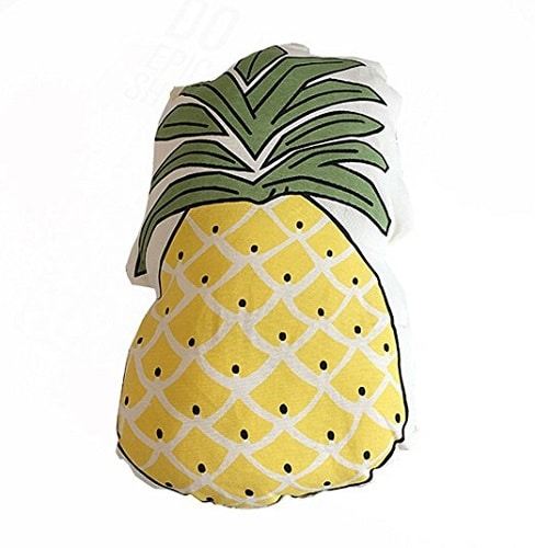 Pineapple Pillow. Dorm accessories for girls room. Dorm room ideas.