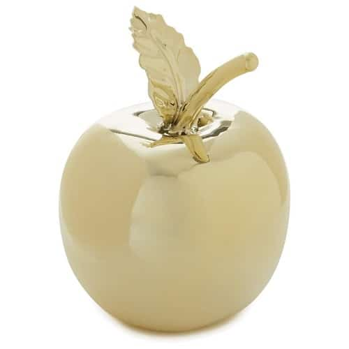 Gold Apple Paperweight. Back to school gifts for teachers. Teacher appreciation.