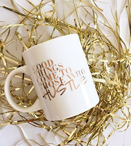 Gold Hustle Coffee Mug- Off to college gift ideas for girls