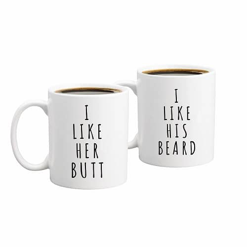 Funny Couples Mug Set - best wedding gift ideas for bride and groom