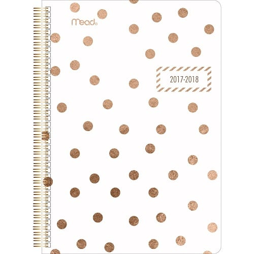 Gold Polka Dots Academic Planner | Back to school supplies for teens and tweens