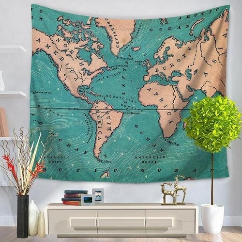 World Map Tapestry. Dorm room ideas.
