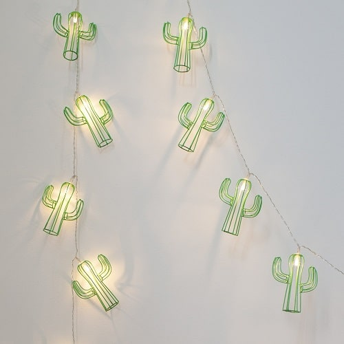 Cactus String Lights. Dorm room ideas.