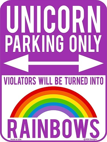 Unicorn Parking Only Sign Room Decor. Unicorn gifts. Gifts for unicorn lovers.