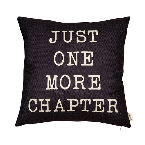 Just One More Chapter Decorative Pillow. Dorm decor ideas for girls room.