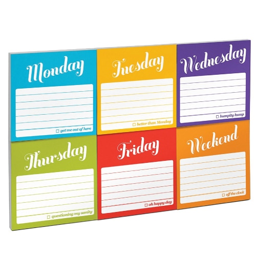 Days of The Week Sticky Notes Packet. School supplies. Back to school gifts for teachers.