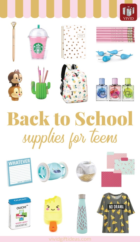 Back to school essentials for teens | Back to school supplies highschool