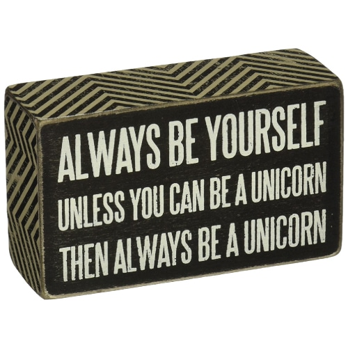 Be a Unicorn Wood Sign. Unicorn decor. Unicorn gifts. Gifts for unicorn lovers.