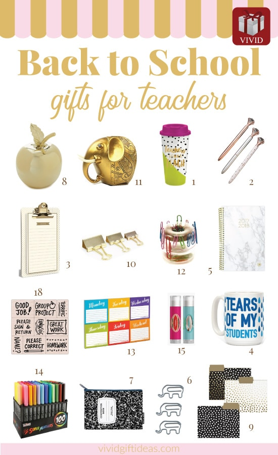 Welcome back to school gifts for teachers