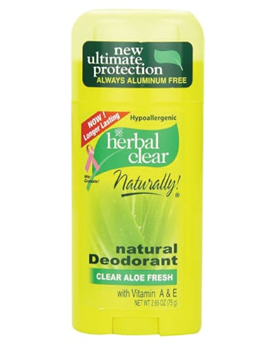 Herbal Clear Natural Deodorant - Back to school essentials for teenagers