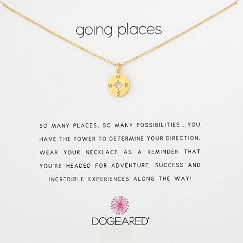Dogeared Going Places Necklace- Off to college gift ideas for girls