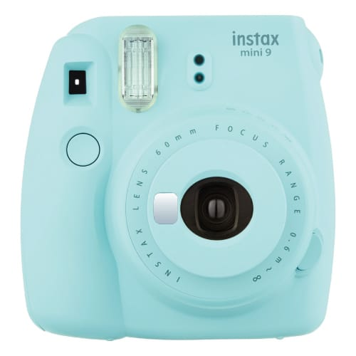 Fujifilm Instax Mini 9 Instant Camera in Ice Blue. Off to college gift ideas for girls.