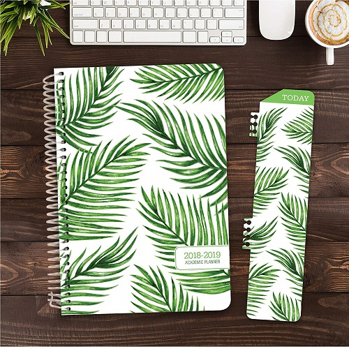 Leaf Pattern Academic Year Planner