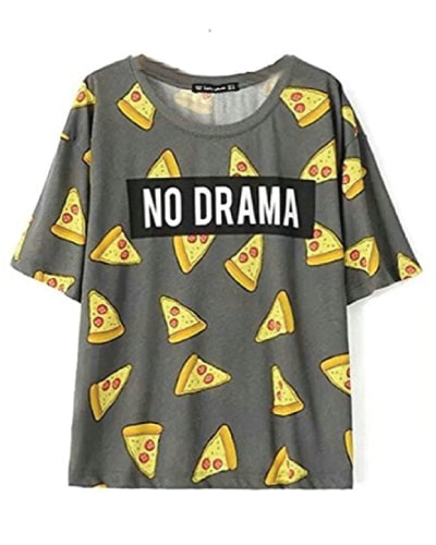 Pizza Print Statement Tee - Back to school outfits
